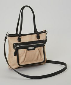 A complete package of style, quality and functionality, this bag has it all! Boasting a luxe leather look and a two-tone design, it features a snap closure that secures the spacious interior outfitted with a bevy of pockets for sorting small essentials. Franco Sarto, Take That, Sorting, Brown, Leather, Essentials, Bags, Closure, Pockets