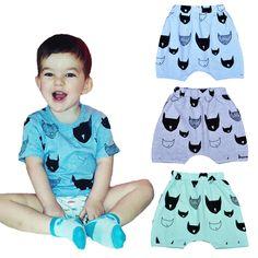 d2e1bbbc7316 2016 summer bobo choses boy kids clothes shorts cartoon Batman printing  Baby harem pants fashion girl