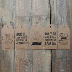 Etiquetas para regalos molones kraft. Diseño de Mr.Wonderful. A la venta en: http://www.mrwonderfulshop.es