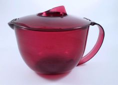 Gently Used- Tupperware - Micro Pitcher -Cranberry holds 4 Cups