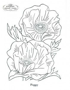 Goldenrod and Poppy Flowers Embroidery Patterns - French Knots