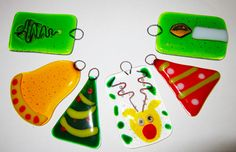Image result for fused glass christmas decoration