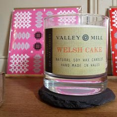 Natural Soy Wax Candles Handmade in Wales available at 'The Little Welsh Dresser'