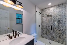 Plenty of gorgeous bathrooms to go around! Visit our website to see more renovations and for more info on how we can help you achieve all of your house goals! #renovationspot . . . . . #discoveratl #atlantahomebuilder #atlantahomerenovations #homerenovations #interiorrenovation #supportlocal #homeinspo #renovations #exteriorrenovation #atlantahomes Bathroom Renos, Bathroom Renovations, Home Renovation, Bathrooms, Patio Installation, Atlanta Homes, House Goals, Shower, Mirror