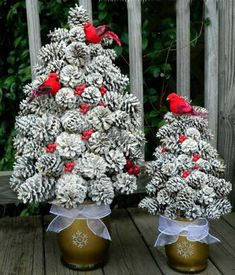 Life on Lakeshore Drive DIY Winter Pine Cone Tree - Pine cone crafts - Noel Christmas, Rustic Christmas, Christmas Wreaths, Christmas Ornaments, Pine Cone Christmas Tree, White Christmas, Handmade Christmas, Cardinal Christmas Decor, Pinecone Christmas Crafts