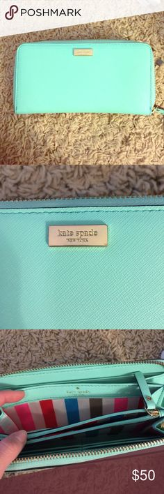 Kate spade wallet Mint green kate spade wallet. Bought from outlet. kate spade Bags Wallets