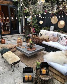 Outdoor Seating, Outdoor Spaces, Outdoor Living, Outdoor Decor, Backyard Patio, Outdoor Furniture Sets, Home Decor, Summer Nights, Bohemian Patio
