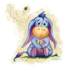 Winnie the Pooh - Baby Eeyore Illustration Art Print bt faedri Winnie Pooh Dibujo, Winnie The Pooh Drawing, Winnie The Pooh Quotes, Winnie The Pooh Friends, Disney Winnie The Pooh, Eeyore Quotes, Bff Quotes, Friend Quotes, Cute Disney