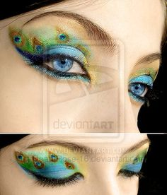 Peacock make-up 2 by ~Dead-Rose-16