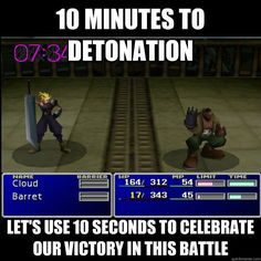 "Video Game Humor ""Final Fantasy VII"""