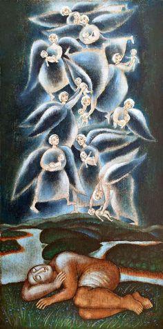 Catholic Art, Angel Art, Gallery, Artwork, Painting, Sacred Art, Icons, Work Of Art, Roof Rack