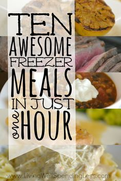 Need a simple dinner solution for busy weeknights?  With this quick & easy freezer meal plan you can whip up TEN delicious dinners in about an hour!  All five recipes in the plan have been family-approved, are easy to cook, and use everyday budget-friendly ingredients. This super helpful post includes everything you need, including a printable shopping list, printable prep & prepare instructions, printable labels, and five delicious recipes!