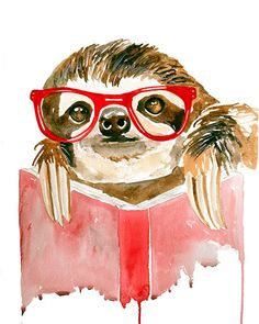 Jenn Seeley Art - Hipster Sloth