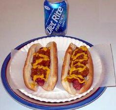 coney | Hot dog | Original Coney Island Sauce Coney Dog Sauce, Hot Dog Sauce, Hot Dog Recipes, Beef Recipes, Coney Island, Hot Dog Chili, Burger Dogs, Burgers, Coca Cola