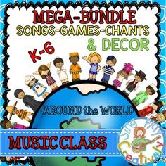 Music Class Mega Bundle of Songs, Decor, Games and Posters