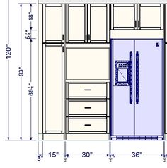 Customizing your tall cabinet under the oven, to have  multiple drawers below: We have 3 sets of RATIONELL deep fully-extending drawer glides and 3 door fronts that are 12″ x 30″. (These are used horizontally as drawer fronts). There are also 2 door fronts (15″x24″) with their matching hinges and dampers used for the two-door combination above the oven space. The 30″x40″ appliance panel is to be used as a trim for the oven space.