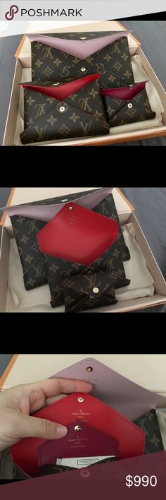 Auth Louis Vuitton Kirigami Envelope Clutch Wallet Authentic Louis Vuitton  Kirigami Clutch Wallet 3 piece Set 6f6be2736001c