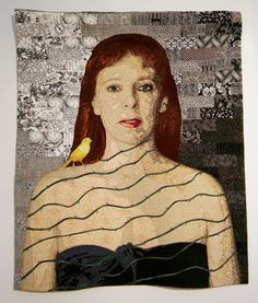 The Canary: an Art Quilt by Virginia Greaves   by steveartist