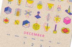Toronto-based Paper Pusher has brought a fun and funky 2015 calendar into the world using this digital technique.