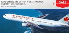 Air Canada: North America & Sun Sale: Save on Tickets/Flights within Canada to the US & Sun Destinations! http://www.lavahotdeals.com/ca/cheap/air-canada-north-america-sun-sale-save-tickets/135580