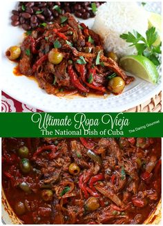The BEST Ropa Vieja, the national dish of Cuba.  daringgourmet.com