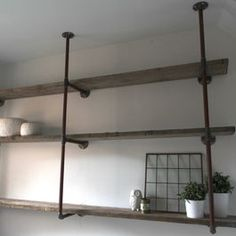 hung shelves industrial
