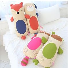 New Raccoon Puppy Owl Fox Friends Baby Infant Body cotton pillow Big size 1pcs #TheClinda