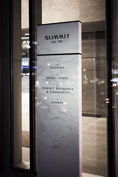 SUMMIT GALLERY – Kukkwang plan | (주)국광플랜 Hotel Signage, Office Signage, Wayfinding Signage, Signage Design, Environmental Graphic Design, Environmental Graphics, Directory Signs, Cafe Sign, Sign Board Design