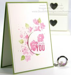 South Hill Designs & Stampin' Up! Sunday Painted Petals Locket and Card