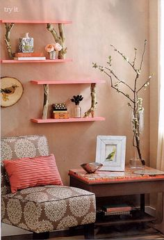 Branch shelves & Flea Market Style