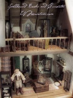 New items available at Spellbound Books and Curiosities. An Egyptian mummy Fiji Mermaid Special cabinet of shrunken . Haunted Dollhouse, Dollhouse Miniatures, Dollhouse Ideas, Egyptian Mummies, Harry Potter Halloween, Halloween Miniatures, Leather Bound Books, Curiosity Shop, Miniature Rooms