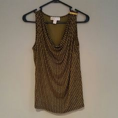 Michael Kors Tank Super cute Michael Kors knit tank. Gently worn.  Really cute olive green and brown color. Small amount of scratches on the shoulder hardware. MICHAEL Michael Kors Tops Tank Tops