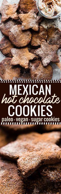 Mexican Hot Chocolate Sugar Cookies {Vegan, Paleo}