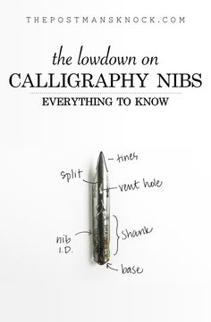 The Lowdown on Calligraphy Nibs It can be overwhelming to see and read about the hundreds of different kinds of nibs on the calligraphy market, but I'm here to tell you my favorite nibs and help you sort through them! Caligraphy Pen, Calligraphy Templates, Calligraphy Lessons, Calligraphy For Beginners, Calligraphy Tutorial, Copperplate Calligraphy, Calligraphy Doodles, Calligraphy Handwriting, Calligraphy Alphabet