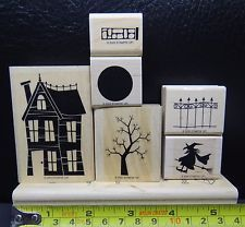Stampin Up Home Is Where The Haunt Is Set of 6 Rubber Stamps Halloween