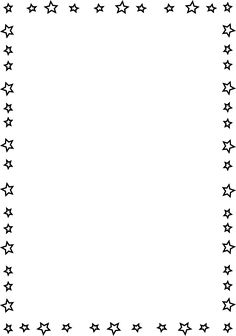 Page Border   This Is A Completely Transparent Star Page Border