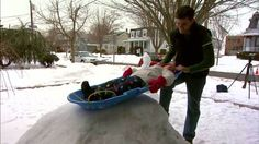 WATCH: Cool dad builds amazing homemade luge track in yard Watch News, Luge, New Inventions, Bean Bag Chair, Dads, Track, Homemade, Cool Stuff, Building