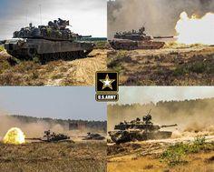 U.S. Army M1 Abrams Main Battle Tanks fire at targets during DEFENDER-Europe 20 on Bucierz Range at Drawsko Pomorskie Training Area, Poland.