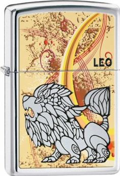 """Zippo Leo. by Zippo. $20.00. Zippo Leo. High Polish Chrome.   These world famous lighters are made in the USA, feature wind resistant lighting and an unconditional lifetime guarantee. Regular Zippo's measure 2 1/4"""" x 1 7/16"""", slim models measure 2 1/4"""" x 1 1/8"""". Weight: 0.15lbs"""