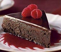 Dark chocolate raspberry torte. Vegan & gluten free