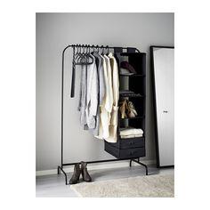 MULIG Vaateteline - musta - IKEA