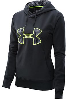 UNDER ARMOUR Women's Armour Fleece Storm Big Logo Hoodie #giftofsport