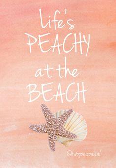 Life's peachy at the beach <3
