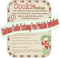 Cookie exchange invitation Love this idea for Christmas party