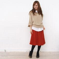 Rakuten: *REAL CUBE software flared skirt (D32111128/D32120218) ★ shipment- Shopping Japanese products from Japan