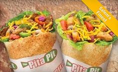 Groupon - Pita Meal for Two With Soda or Express Meals for Five with Pita, Chips, and Cookie at The Pita Pit (51% Off) in Multiple Locations. Groupon deal price: $8.00