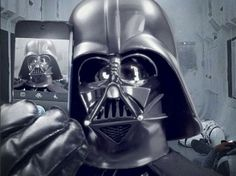 This Isn't Just a Darth Vader Selfie. It's An Official Darth Vader Selfie. Darth Vader Star Wars, Anakin Vader, Anakin Skywalker, Darth Maul, Instagram Stars, Site Instagram, Join Instagram, Instagram Posts, Starwars