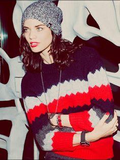 I love the beanie & the sweater!!!!