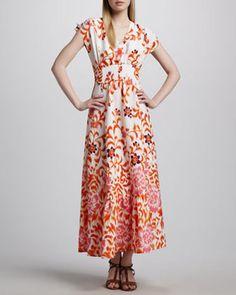 5f8548b4e3b Indikka Floral Peasant Maxi Dress on shopstyle.com Neiman Marcus Dresses