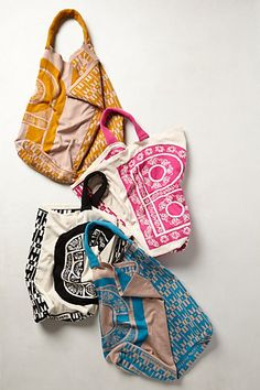 Monogram Knit Tote #anthropologie Comes in every letter! What a great idea as a gift for the bridesmaids